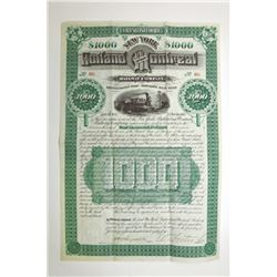Rutland and Montreal Railway Co., 1884 Issued Bond