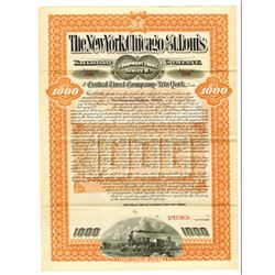 New York, Chicago and St. Louis Railroad Co., 1911 Specimen Bond