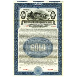 New York, Chicago and St. Louis Railroad Co., 1918 Specimen Bond