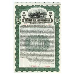 Lake Erie and Pittsburg Railway Co., Specimen Bond.