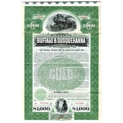 Buffalo & Susquehanna Railroad Co., 1901 Specimen Bond