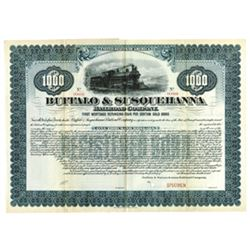Buffalo & Susquehanna Railroad Co., ca.1900-1910 Specimen Bond