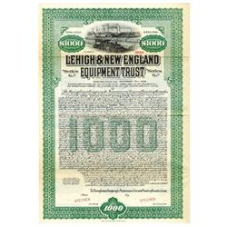 Lehigh & New England Equipment Trust, 1930 Specimen Bond
