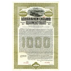Lehigh & New England Equipment Trust, 1935 Specimen Bond