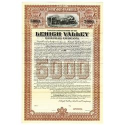 Lehigh Valley Railroad Co., 1901 Specimen Bond