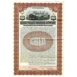 Lehigh Valley Railroad Co., 1916 Specimen Bond