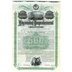 Lycoming Improvement Co., 1894 Specimen Bond