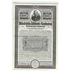 Philadelphia, Baltimore, and Washington Railroad Co., 1917 Specimen Bond