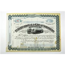 International & Great Northern Railroad Co., ca.1880-1890 Specimen Stock Certificate