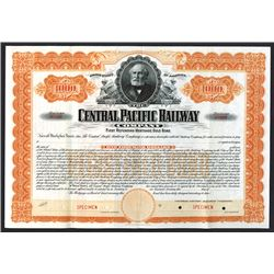 Central Pacific Railroad Co. 1899 Specimen Registered Bond.