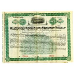 Washington and Georgetown Railroad Co., 1893 Specimen Bond