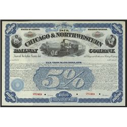 Chicago & Northwestern Railway Co. Specimen Bond.