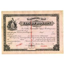City of Boston, ca.1900-1920 Specimen Bond
