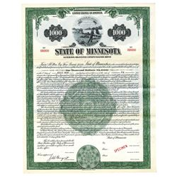 State of Minnesota, 1949 Military Related Specimen Bond