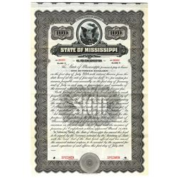 State of Mississippi, 1914 Specimen Bond