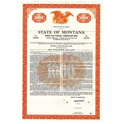 State of Montana, 1957 Specimen Bond