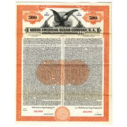 North American Sugar Co., S.A., 1923 Specimen Bond