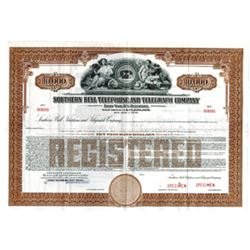 Southern Bell Telephone and Telegraph Co., 1939 Specimen Bond