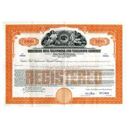 Southern Bell Telephone and Telegraph Co., 1960 Specimen Bond