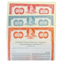 Portland General Electric Co., ca.1960 Lot of 4 Specimen Bonds