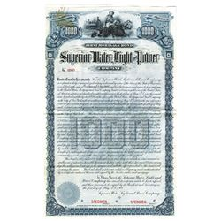 Superior Water, Light and Power Co., 1901 Specimen Bond