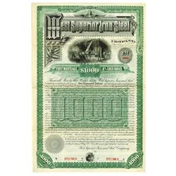 West Superior Iron and Steel Co., 1890 Specimen Bond