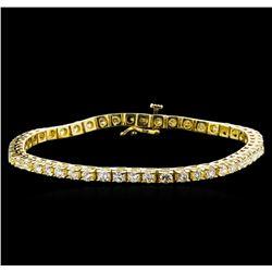 4.00 ctw Diamond Tennis Bracelet - 14KT Yellow Gold