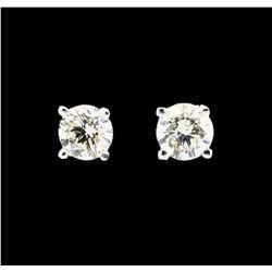 0.50 ctw Diamond Stud Earrings - 14KT White Gold
