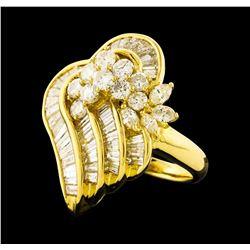 3.62 ctw Diamond Ring - 18KT Yellow Gold