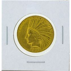 1910 $10 Indian Head Gold Coin XF