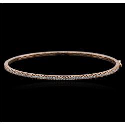 14KT Rose Gold 0.46 ctw Diamond Bracelet