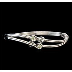 14KT White Gold 0.52 ctw Diamond Bangle Bracelet
