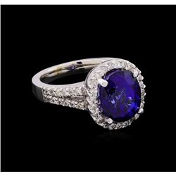 14KT White Gold 6.64 ctw Sapphire and Diamond Ring