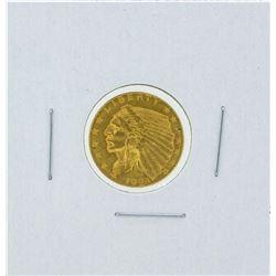 1925-D $2 1-2 Indian Head Quarter Eagle Gold Coin BU
