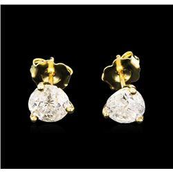 1.68 ctw Diamond Earrings - 14KT Yellow Gold