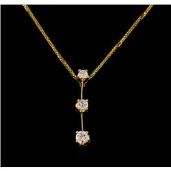 14KT Yellow Gold 0.55 ctw Diamond Pendant With Chain