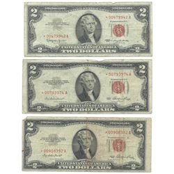 (7) 1953 $2 Legal Tender Star Notes