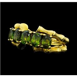 2.50 ctw Green Tourmaline Ring - 18KT Yellow Gold