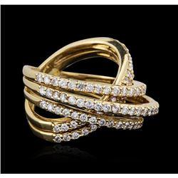 18KT Yellow Gold 1.62 ctw Diamond Ring