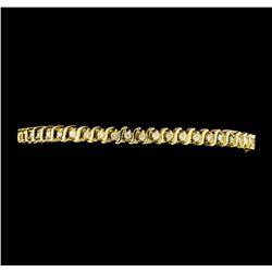 1.00 ctw Diamond Tennis Bracelet - 14KT Yellow Gold