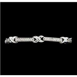 2.10 ctw Diamond Bracelet - 14KT White Gold