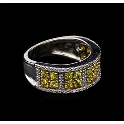 0.95 ctw Yellow Sapphire and Diamond Ring - 14KT Two-Tone Gold