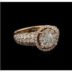 3.01 ctw Diamond Ring - 14KT Rose Gold