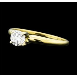 0.30 ctw Diamond Solitaire Ring - 14KT Yellow Gold