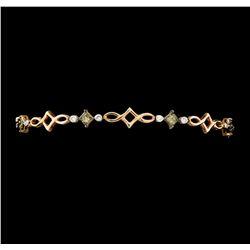 1.67 ctw Diamond Bracelet - 14KT Rose Gold