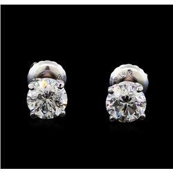 1.31 ctw Diamond Stud Earrings - 14KT White Gold