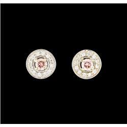 0.70 ctw Diamond Earrings - 18KT White Gold