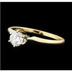 0.25 ctw Diamond Solitaire Ring - 14KT Yellow Gold