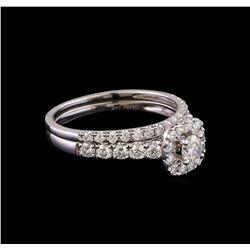 1.00 ctw Diamond Wedding Ring Set - 14KT White Gold