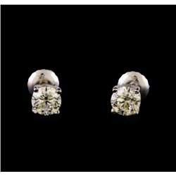 14KT White Gold 1.15 ctw Diamond Solitaire Earrings